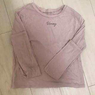 ハニーミーハニー(Honey mi Honey)のハニーミーハニー  honeymehoney ピンク ロンT ロゴT(Tシャツ(長袖/七分))