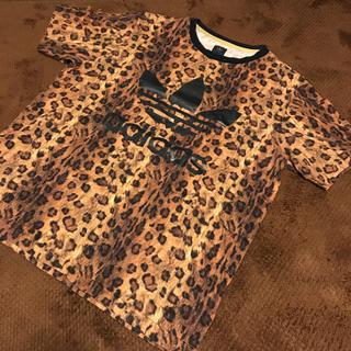 アディダス(adidas)のアディダス レオパード柄  シャツ(Tシャツ/カットソー(半袖/袖なし))