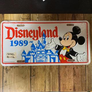 ディズニー(Disney)のレア? 1989ディズニーカルフォルニア ライセンスプレート(インテリア雑貨)