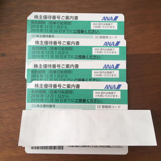エーエヌエー(ゼンニッポンクウユ)(ANA(全日本空輸))の全日空ANA株主優待券(航空券)