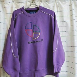 バレンシアガ(Balenciaga)のadererror アダーエラー スウェット トレーナー 紫 パープル(スウェット)