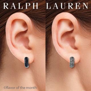 ラルフローレン(Ralph Lauren)のラルフローレン 2-WAY エレガントなダークグレークリスタル・ピアス(ピアス)