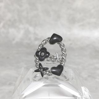 ルイヴィトン(LOUIS VUITTON)の正規品 ヴィトン 指輪 スウィートモノグラム ハート フラワー 花 ロゴ リング(リング(指輪))