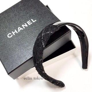 シャネル(CHANEL)のシャネル 2013AW ツイード カチューシャ ヘアバンド【E1113】(カチューシャ)