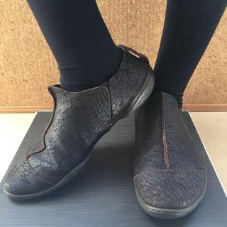 トリッペン(trippen)のtrippenトリッペン38 シワ加工(ローファー/革靴)