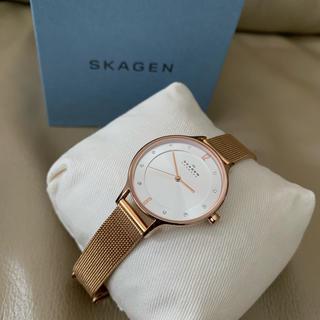 スカーゲン(SKAGEN)の最終値下げ SKAGEN 腕時計 ピンクゴールド スチールメッシュウォッチ (腕時計)