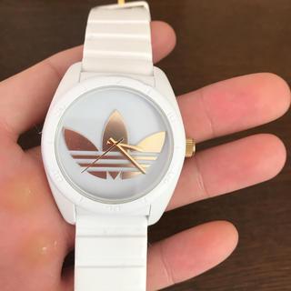 アディダス(adidas)のadidas 時計 白 金(腕時計(アナログ))