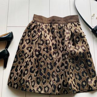 デミルクスビームス(Demi-Luxe BEAMS)のDemi-luxe レオパードのスカート 使い方次第で女子会にも、お呼ばれにも◎(ひざ丈スカート)