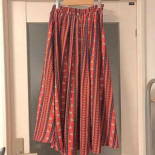 ダブルネーム(DOUBLE NAME)のエスニック花柄スカート※4/5までの販売(ロングスカート)