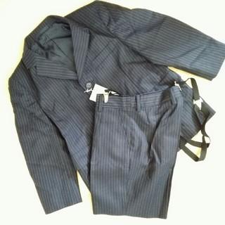 5e46561a61569 バーバリー(BURBERRY)のキッズ スーツ 120 紺色 ストライプ 新品(ジャケット 上着
