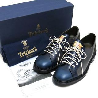 トリッカーズ(Trickers)の新品 Tricker's M6474 モンキーローカットブーツ ネイビー7.5(ドレス/ビジネス)