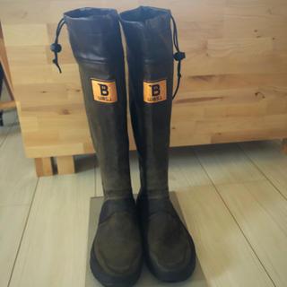 ハンター(HUNTER)の日本野鳥の会 長靴 折りたたみ ブラウン Sサイズ(レインブーツ/長靴)