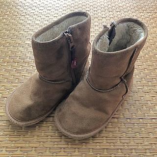 ファミリア(familiar)のファミリア ムートン ブーツ  ベージュ ブラウン 17(ブーツ)