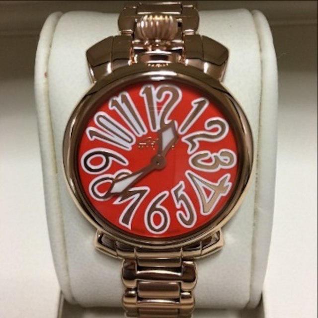 low priced 2bcc5 2bb01 美品^_^ガガミラノピンクゴ-ルドレディース腕時計6021.6 | フリマアプリ ラクマ