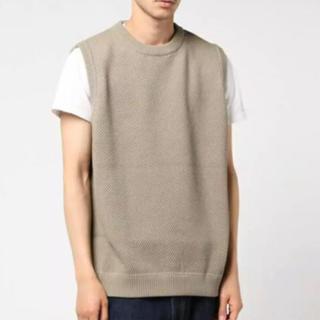 コモリ(COMOLI)のcrepuscule Moss Stitch Vest beige(ベスト)