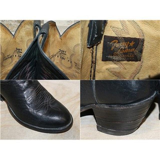 Tony Lama(トニーラマ)の最高級品 トニーラマ ウエスタンブーツ 黒 2626,5cm US9D メンズの靴/シューズ(ブーツ)の商品写真