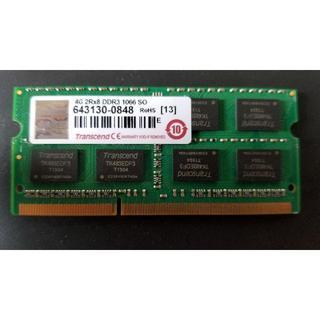 トランセンド(Transcend)のTranscend製ノート向けDDR3メモリ 4GB(PC周辺機器)