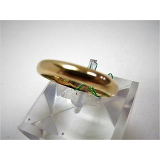 K18 18金 リング 甲丸 サイズ#19 結婚指輪 男女兼用(リング(指輪))