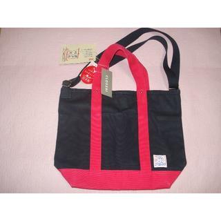 シマムラ(しまむら)の新品 瀬戸内帆布 トートバッグ 紺×ピンク 日本製(トートバッグ)