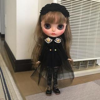 刺繍襟ミニワンピセット(人形)