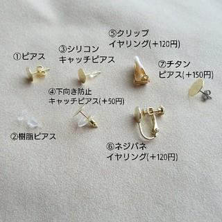 vintage かすみ草 ドライフラワー ピアス/イヤリング(ピアス)
