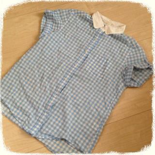 ジーユー(GU)のg.u.♡ギンガムチェックシャツ(シャツ/ブラウス(半袖/袖なし))