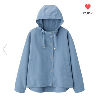 ジーユー(GU)のGU マウンテンパーカ ブルー XL 完売商品!!(ナイロンジャケット)