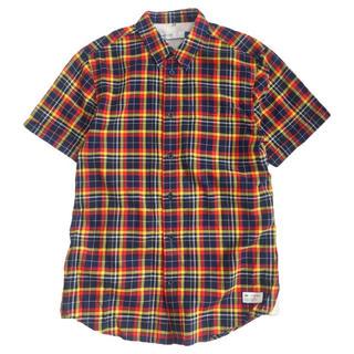 アディダス(adidas)のadidas チェックシャツ 半袖(Tシャツ/カットソー(半袖/袖なし))