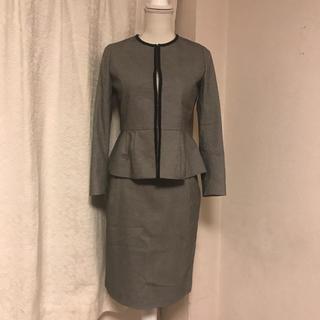 デミルクスビームス(Demi-Luxe BEAMS)の美品デミルクス ビームス のノーカラーセットアップスーツ36ビジネスフォーマルに(スーツ)