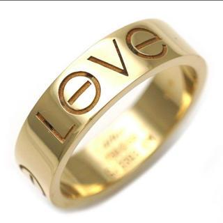 カルティエ(Cartier)の正規品 カルティエ K18YG ラブリング LOVEロゴ(リング(指輪))