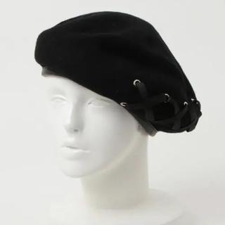 イートミー(EATME)のEATME レースアップ ベレー帽(ハンチング/ベレー帽)