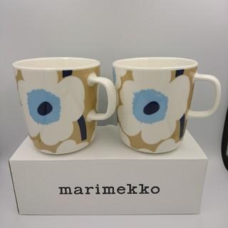 マリメッコ(marimekko)のMarimekko  マグカップ 400ml ベージュ(グラス/カップ)