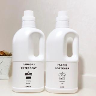 TL-1022 ✩︎ラベル付き洗剤ボトル Lサイズ2本セット✩︎(容器)