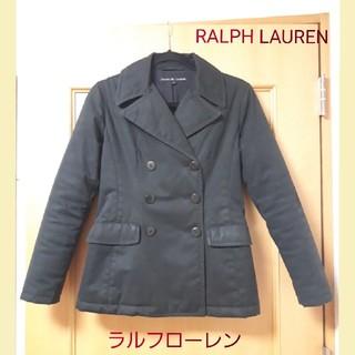 ラルフローレン(Ralph Lauren)のいちご様専用 RALPH LAUREN 中綿コットン ピーコート黒 レディースs(ピーコート)