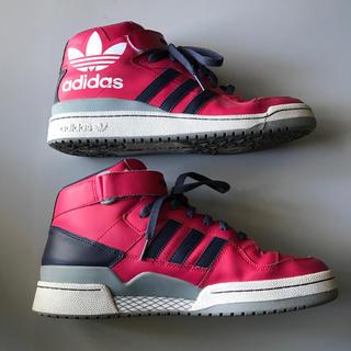 アディダス(adidas)のadidas Originals FORUM MID mi ピンク ハイカット(スニーカー)