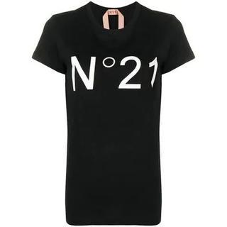 ヌメロヴェントゥーノ(N°21)のNº21 ヌメロ・ヴェントゥーノ ロゴ Tシャツ ブラック 半袖(Tシャツ(半袖/袖なし))