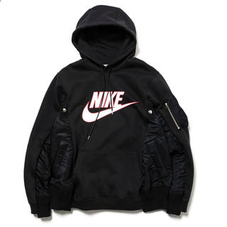 サカイ(sacai)の限定 Sacai Nike Men's Hoodie サイズ2 パーカー 黒(パーカー)