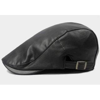 ハンチング帽 ベレー帽 キャスケット ユニセックス ブラック 55~60cm(ハンチング/ベレー帽)