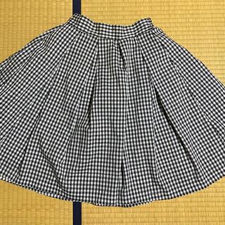 バビロン(BABYLONE)のバビロン ギンガムチェック フレアスカート (黒・フリーサイズ)(ひざ丈スカート)