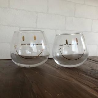 ウニコ(unico)の ニコちゃん BBsmailグラス ペアセット(グラス/カップ)