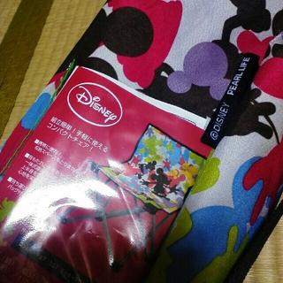ディズニー(Disney)のディズニー◆コンパクトチェアー(収納ケース付き)運動会や海水浴に♪(折り畳みイス)