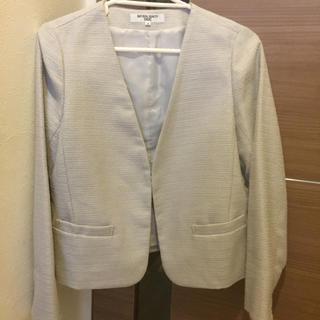 ナチュラルビューティーベーシック(NATURAL BEAUTY BASIC)のスーツ セット ノーカラージャケット 入学式 入園式(スーツ)