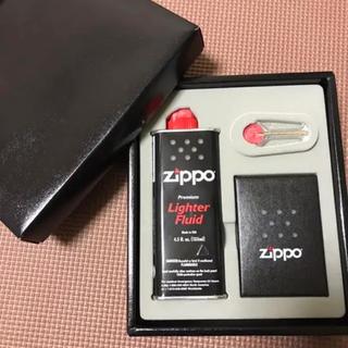 ジッポー(ZIPPO)の新品 ZIPPO ライター ジッポー オイル 石 セット(タバコグッズ)