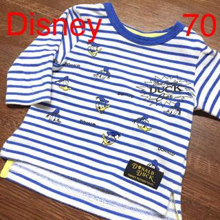 ディズニー(Disney)の♡♥︎ ディズニー カットソー 70 ♡♥︎ タオル地 ドナルド(シャツ/カットソー)