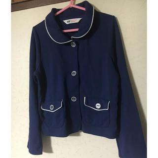 エイチアンドエム(H&M)の美品❣️H&M 男の子女の子兼用長袖ジャケット・上着 120 紺(ジャケット/上着)
