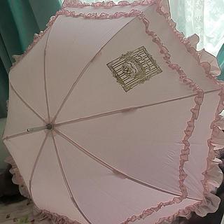 アンジェリックプリティー(Angelic Pretty)の【ほぼ未美品Angelic pretty 晴雨兼用 日傘 フリル ピンク (傘)