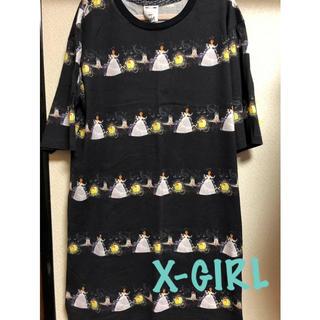 エックスガール(X-girl)の最終値下げ!X-GIRLシンデレラロングTシャツ(Tシャツ(半袖/袖なし))