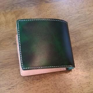 トチギレザー(栃木レザー)の二つ折財布(折り財布)