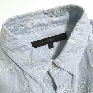 デザインワークス(DESIGNWORKS)のDESIGNWORKS 花柄刺繍 メンズ長袖シャツ/46(M)(シャツ)