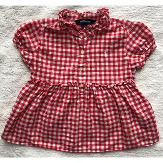 41a25a3b6533f ラルフローレン(Ralph Lauren)のラルフローレン 赤ギンガムチェックワンピース110センチ